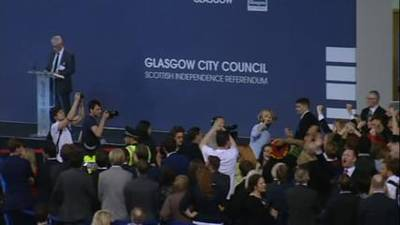 News video: Scottish Referendum: Glasgow votes 'yes' to independence
