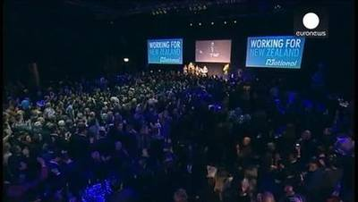News video: New Zealand PM John Key wins third term in office